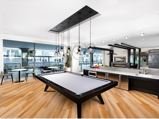 Image of Modern Classic Club Room with Billiards for Modern on M