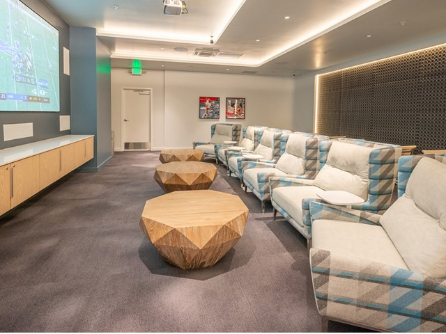 Image of Posh theater/media room with VR Game system for Modera Jackson