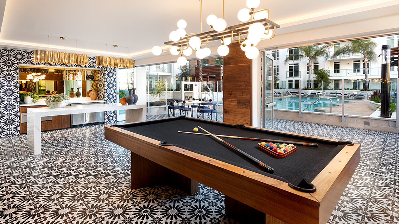 Billiards for residents to use