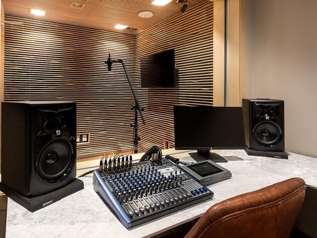Recording studio for residents