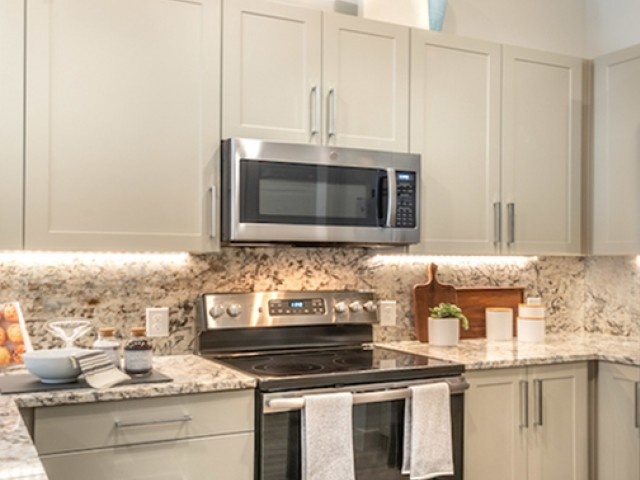 Photo of shaker style kitchen cabinets