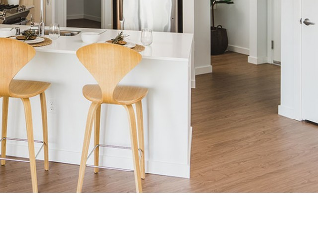Tan color scheme vinyl plank flooring