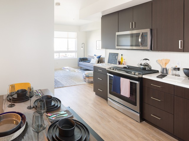 Espresso finishes and stainless steel appliances
