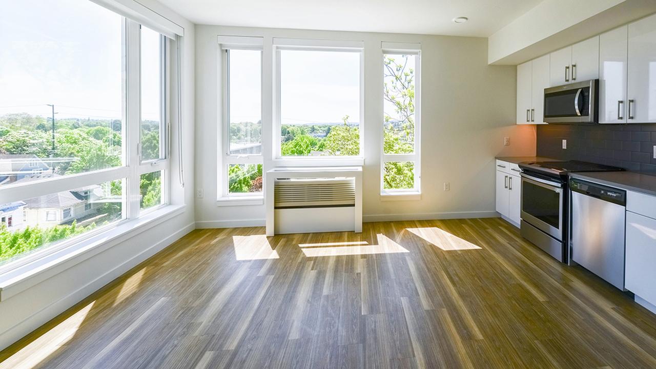 Vacant new apartment in Eastside Portland Oregon