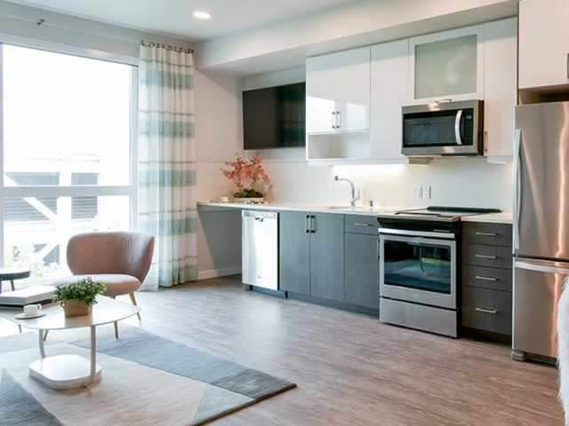Apartments in San Jose near San Pedro Square with wood flooring