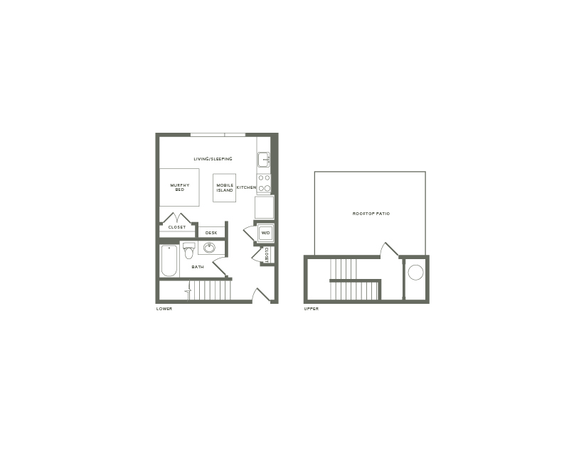 578 square foot studio one bath loft apartment floor plan image