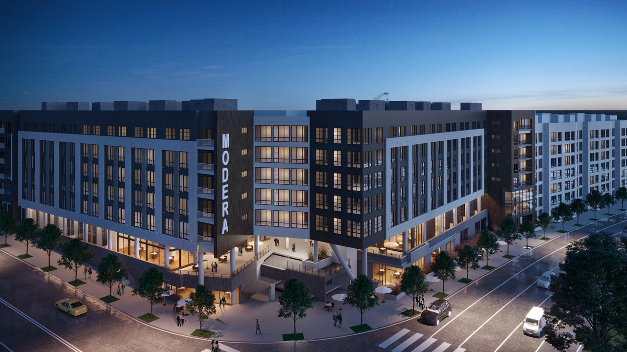 Rendering of exterior of Modera Prominence