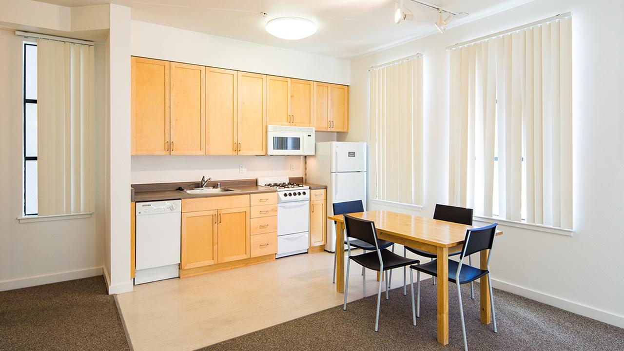 Kitchen at Bachenheimer Apartments
