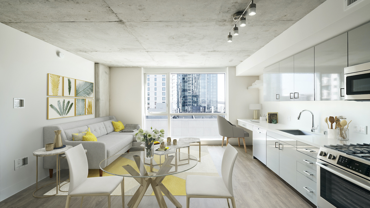 Light-filled homes with stunning downtown views, gas cooking and built-in workspaces