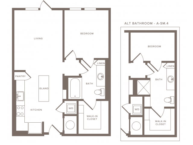 Floor Plan A05 | Modera Howell | Dallas Apartments For Rent