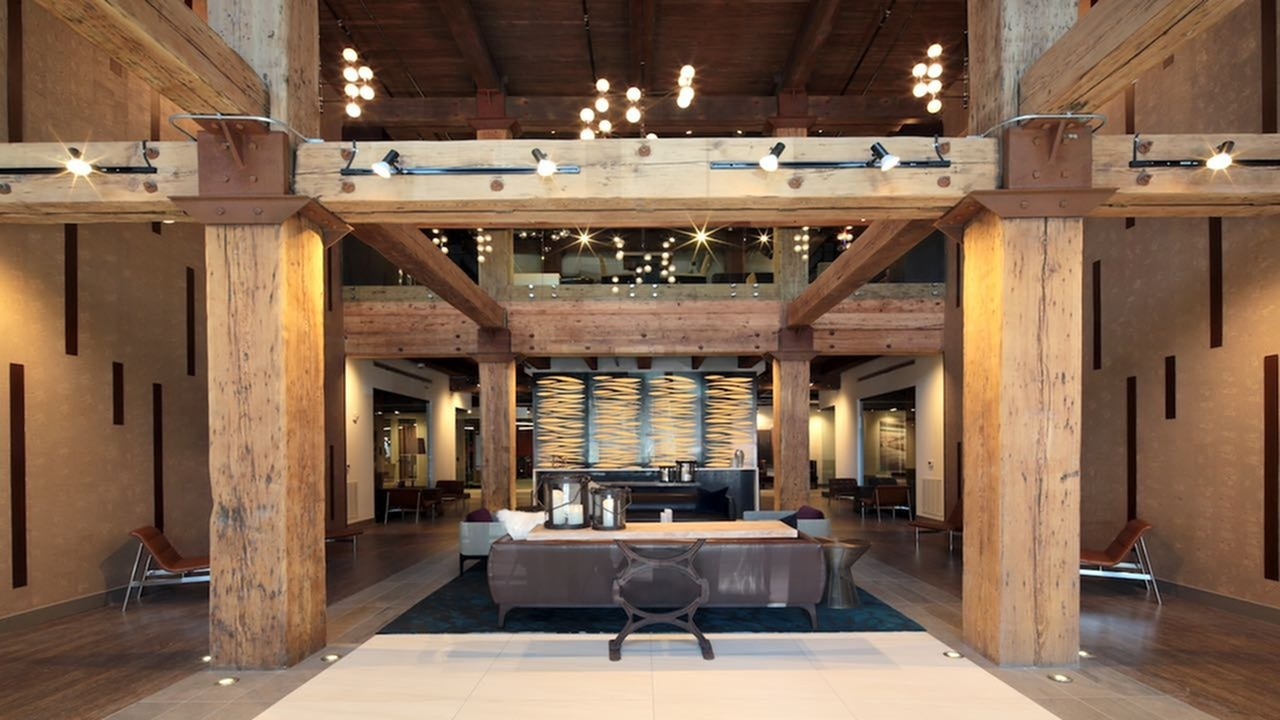 Wood Beam Leasing Office