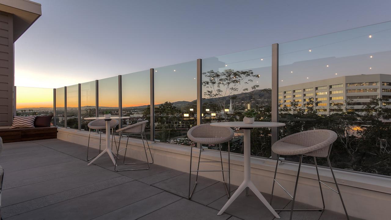 Community Sun Deck with Large Glass Enclosure