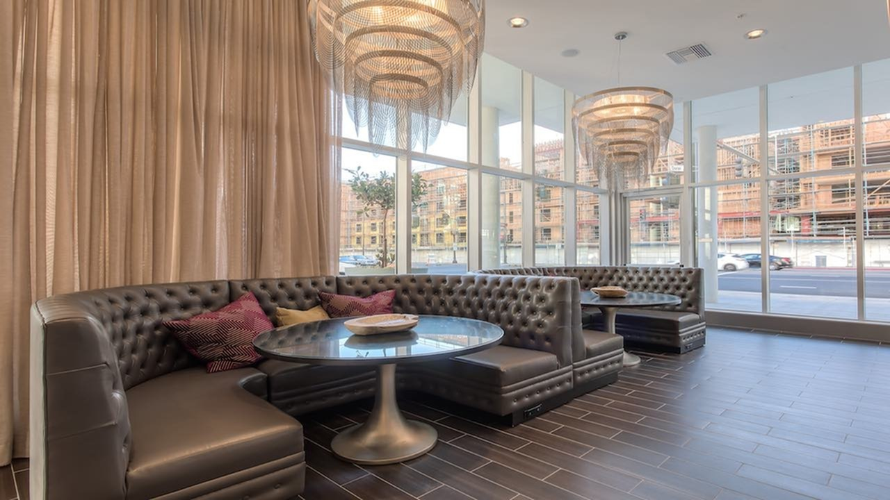 Resident Study Lounge with Chandeliers and Unique Seating
