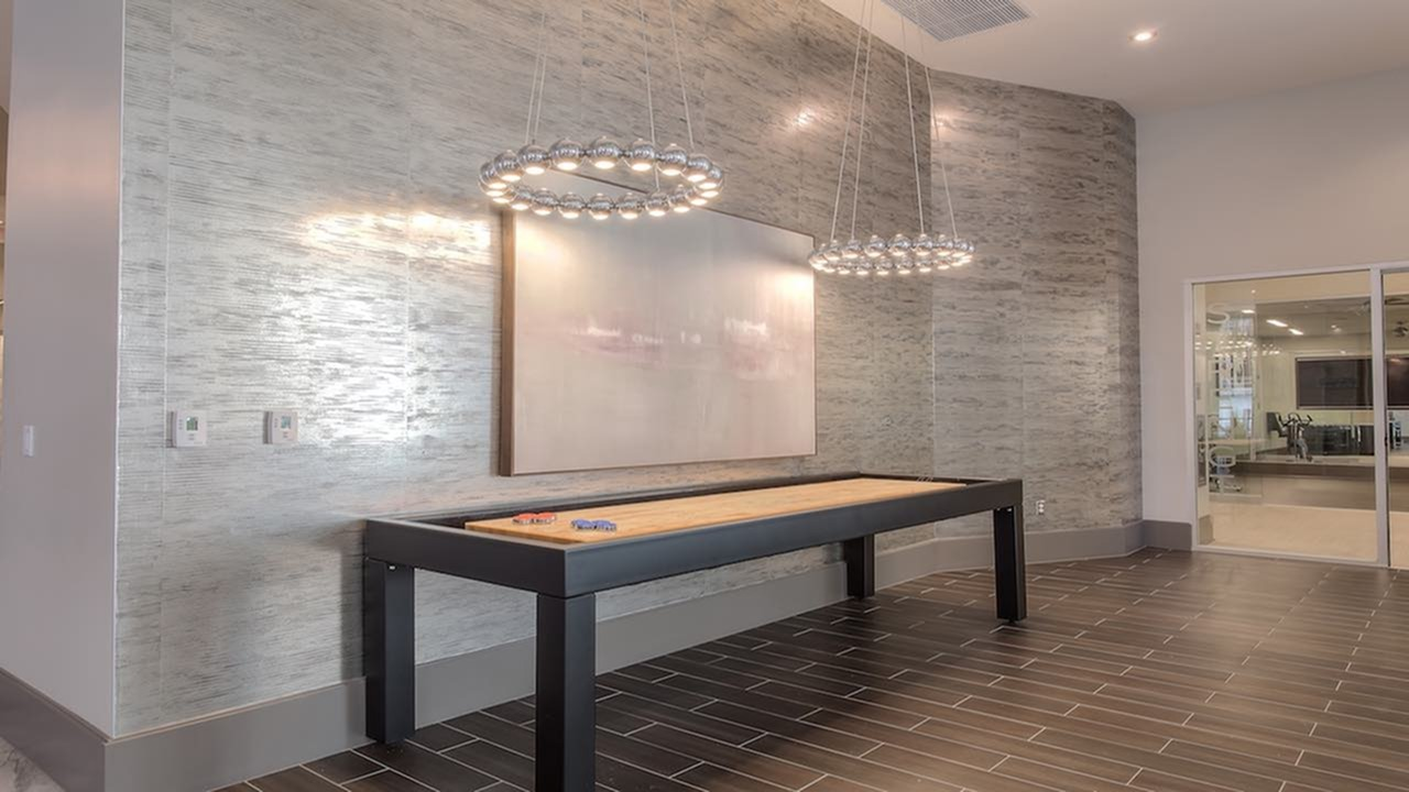 Shuffleboard in Resident Game Area