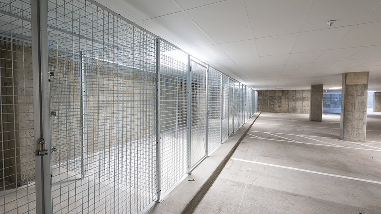 Resident Storage Spaces in Controlled Access Garage