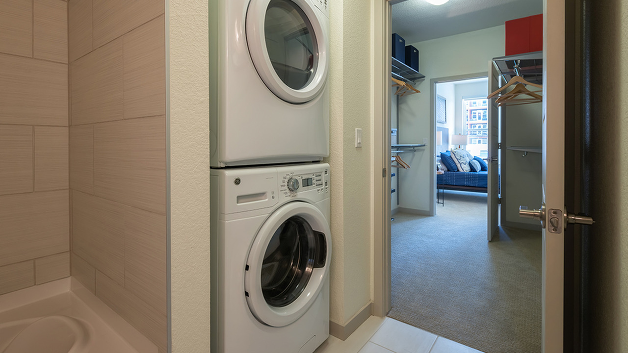 In-Home Full-Sized Stackable Washer and Dryer