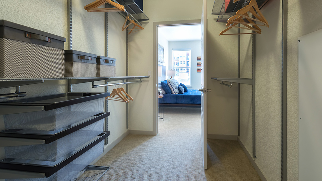 Container Store Closet Systems in Select Homes