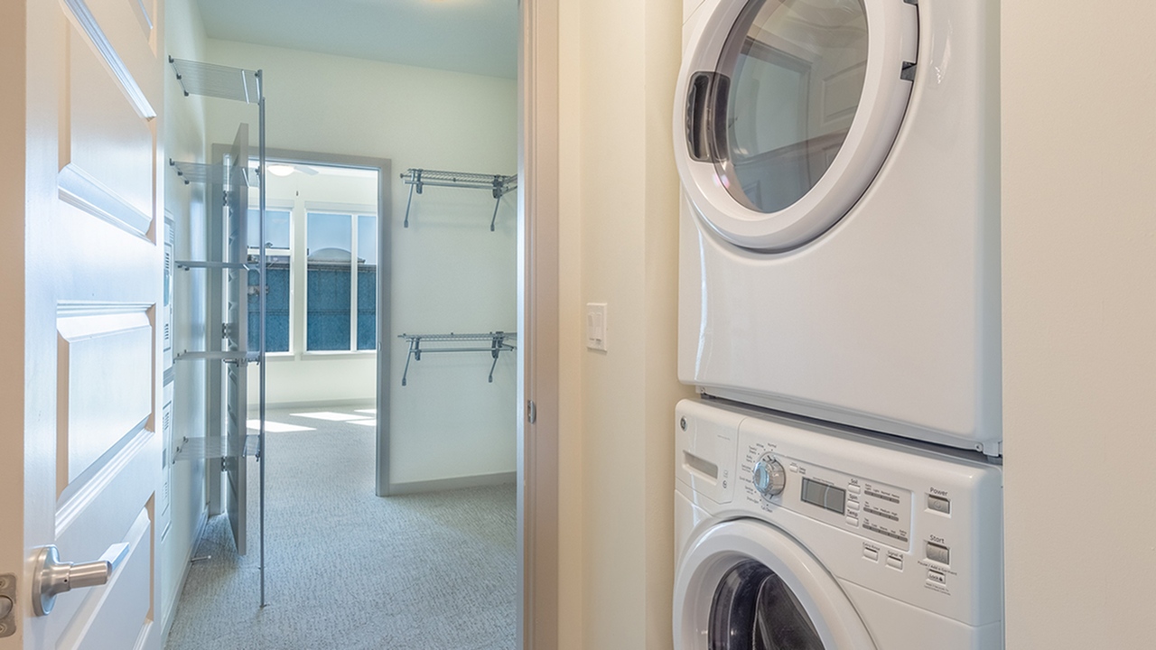 Full size washer and dryer in home