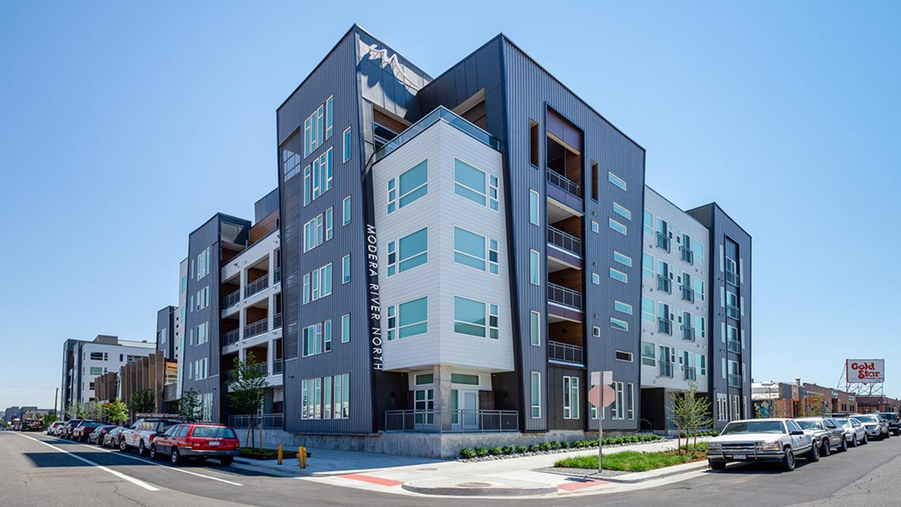 Unique architecture of exterior of community