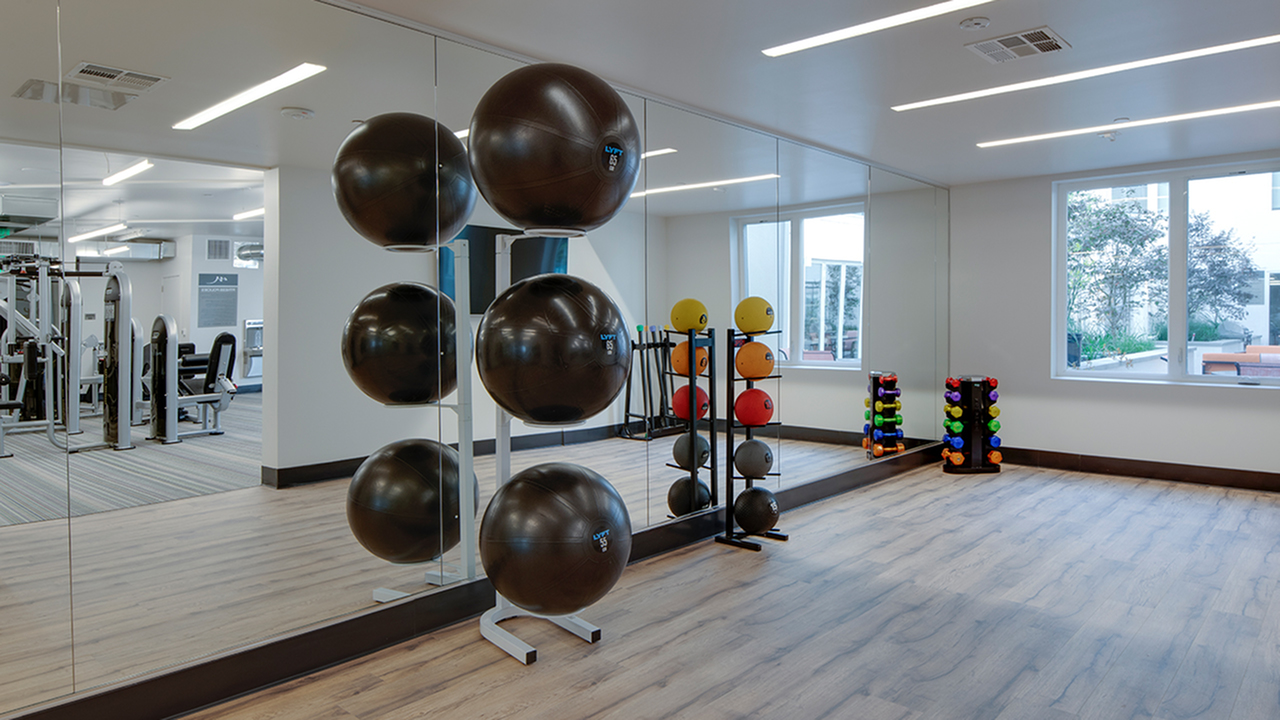 Club-quality fitness studio with machines and cardio