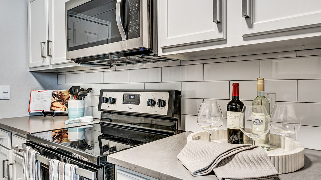 Spacious Renovated Kitchens with glass cooktop stove