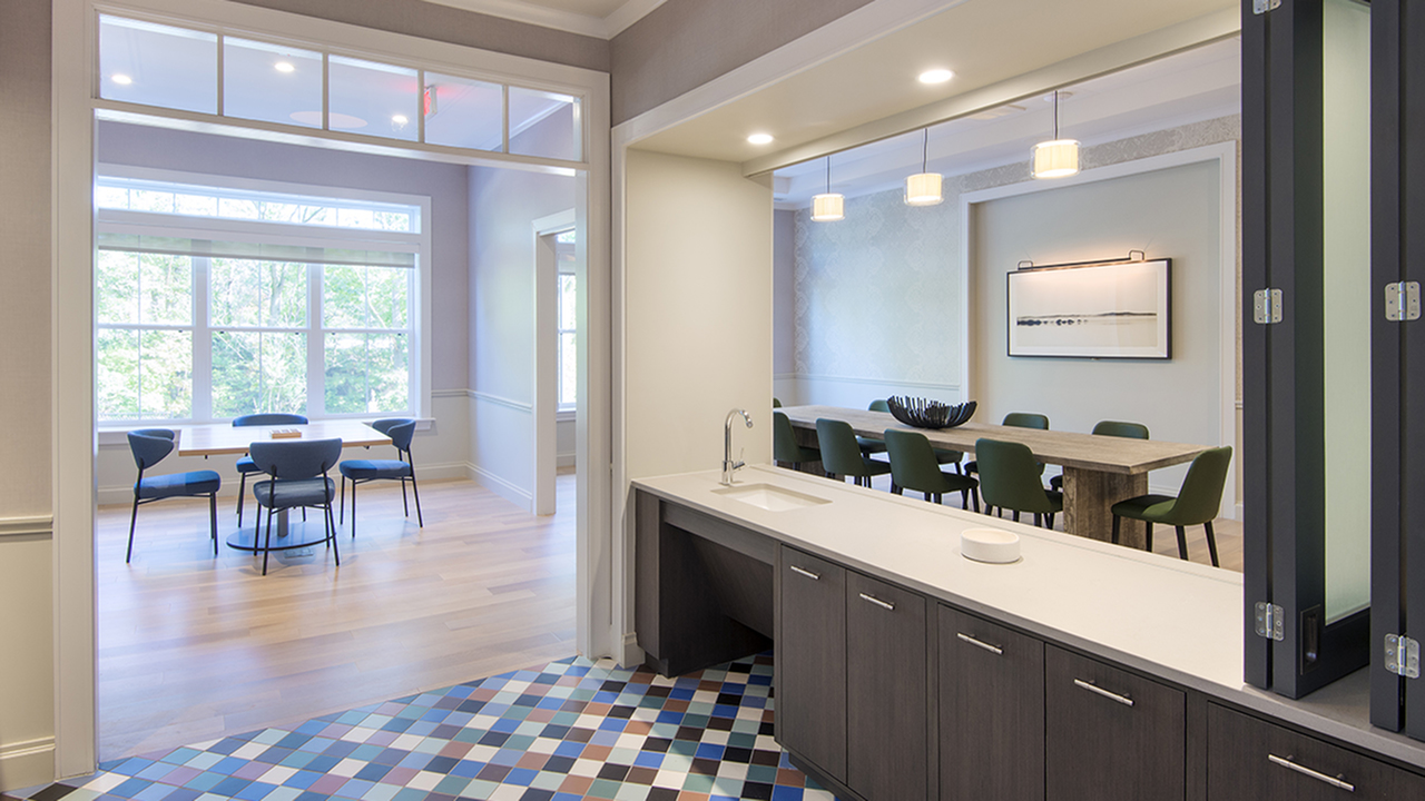 Demonstration Kitchen in Resident Lounge