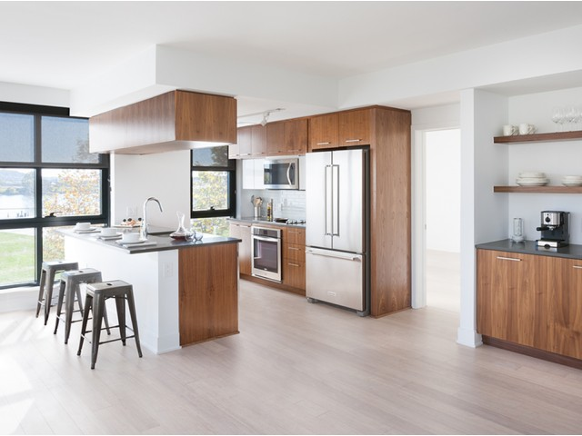 Open Concept, Modern Kitchen with Stainless Steel Appliances