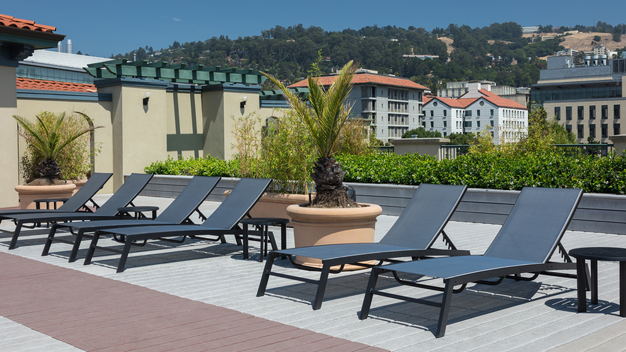 Coveted Rooftop Deck with Chaise Lounge Seating