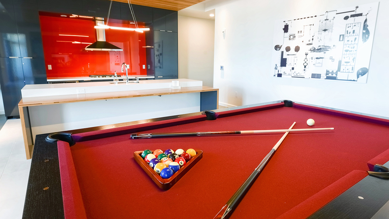 Billiard table and lounge