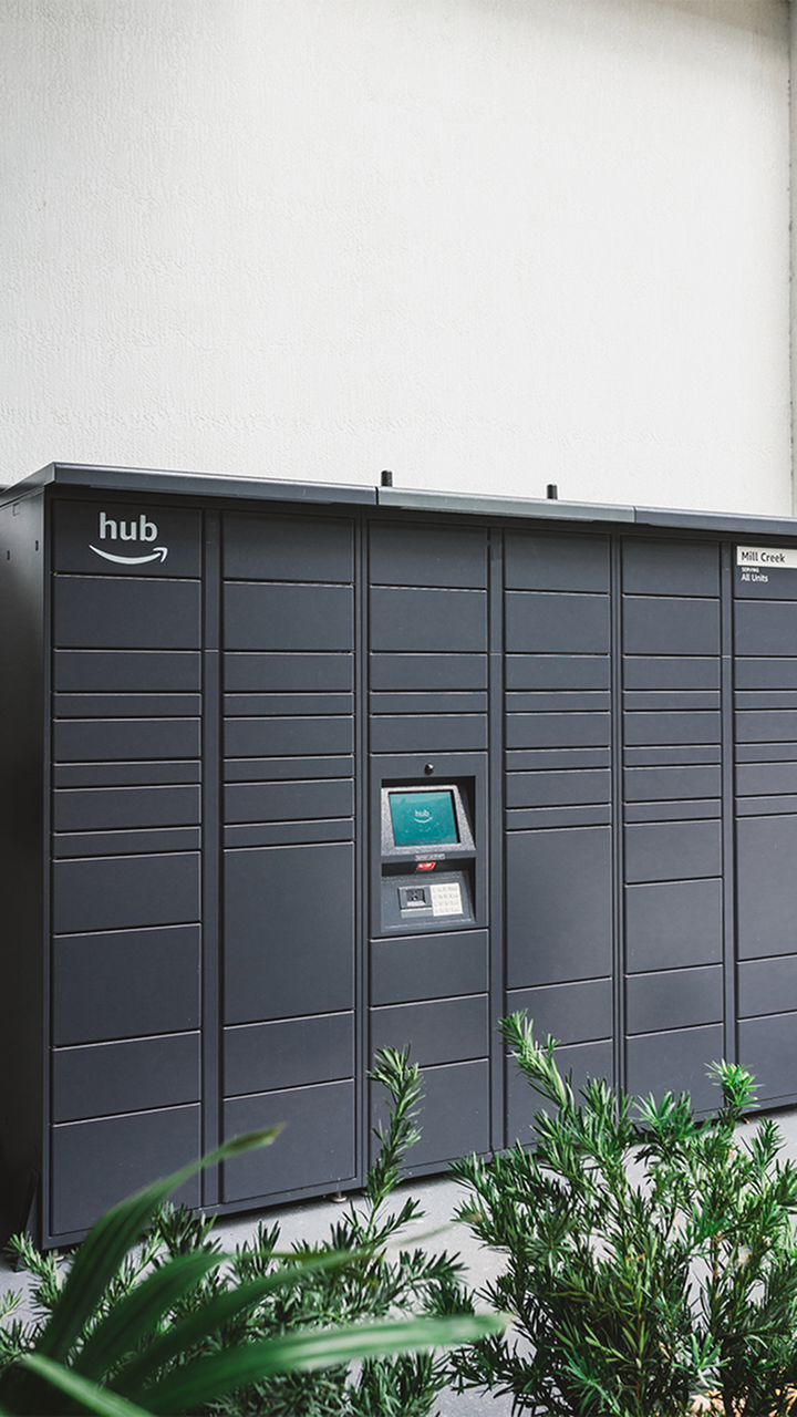 Amazon Hub outdoor package lockers