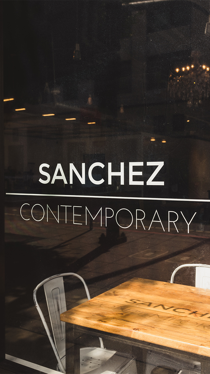 Outside Sanchez Art Gallery