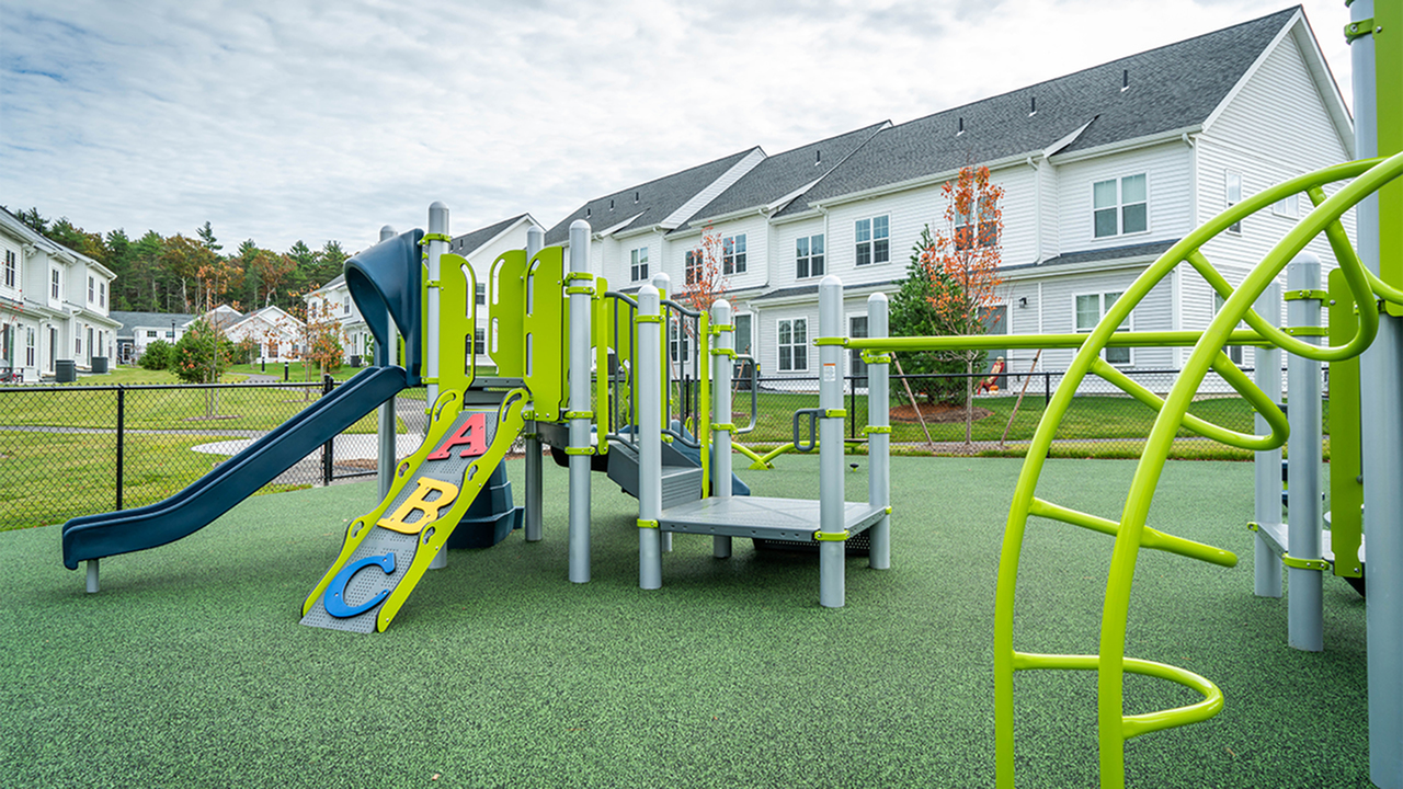 Expansive tot lot and play area