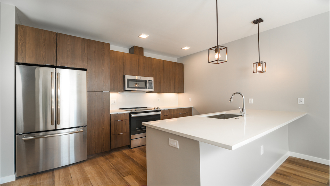 Modera LoHi apartments with city views of downtown Denver