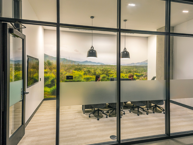 Work lounge and conference areas