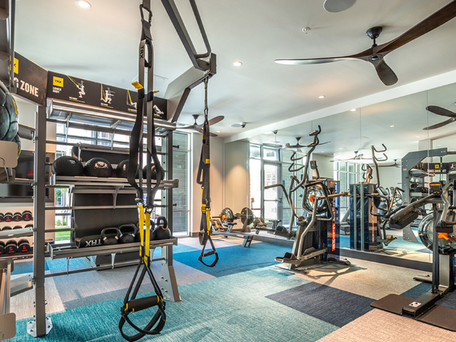 Fitness center with TRX and HIIT equipment