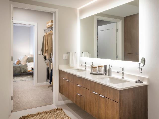 Double vanities and floating bathroom vanities