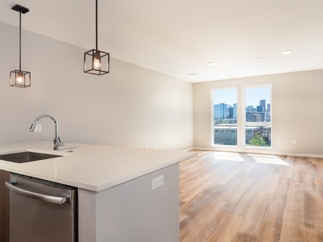 Enjoy the view (and the quiet!) with oversized apartment windows and upgraded acoustics
