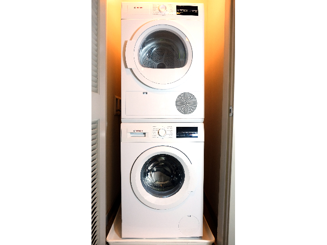 Bosch front loading stackable washer and dryer