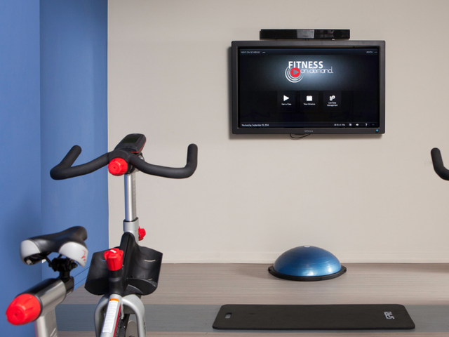 Spin bikes with On Demand Fitness