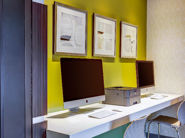 Mac computers in the business center