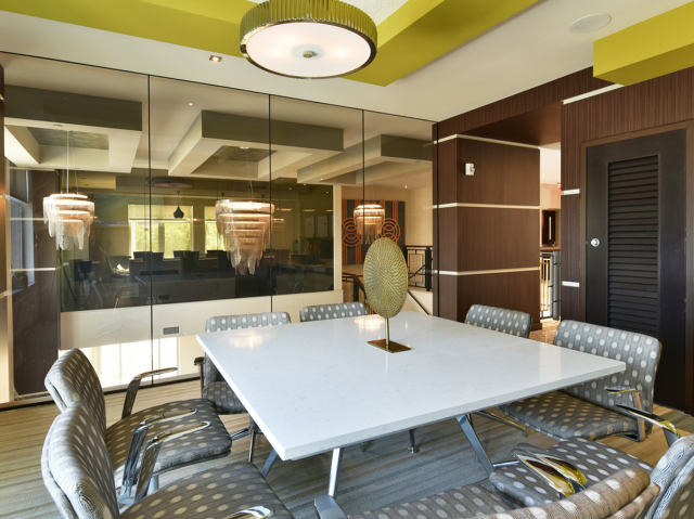 Large conference room seating 8