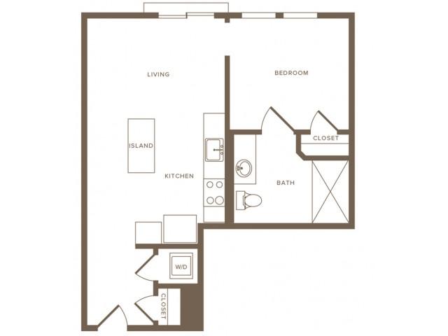 Modera Hollywood Apartments Studio 01 Floor Plan