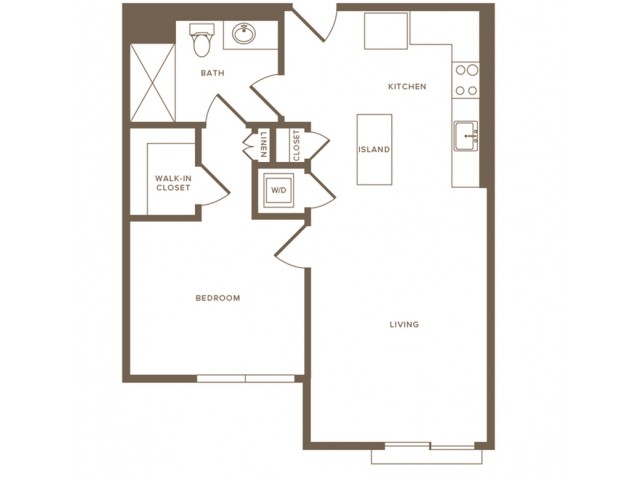 Modera Hollywood Apartments 1-bed A07 floor plan