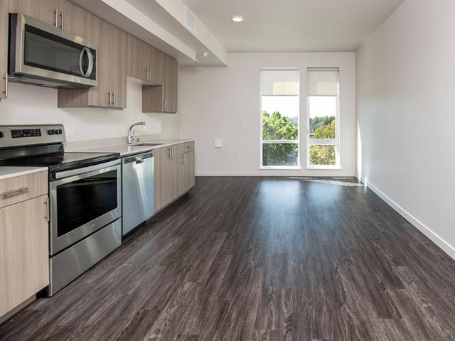 Sustainable wood plank-style flooring
