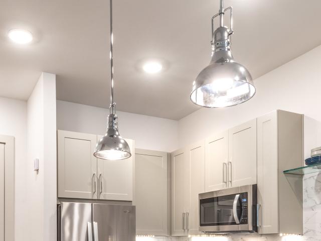 Modera Howell custom light fixtures in kitchen image