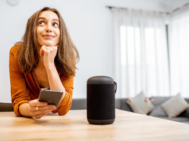 Smart home tech stock image