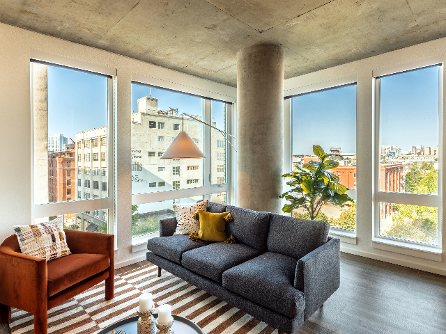 Modera Akoya oversized window living room image