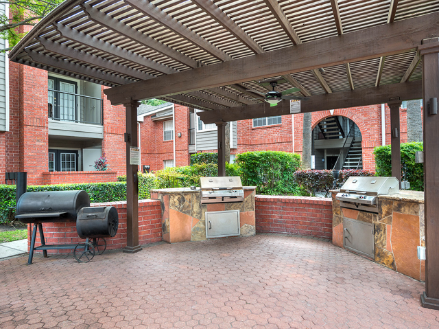 Grilling area with two grills