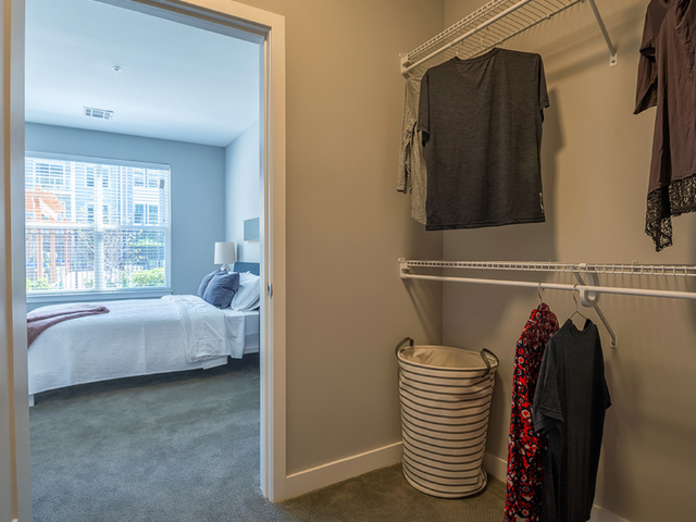 Expansive walk-in closets for added storage