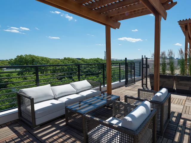 Exterior resident rooftop deck